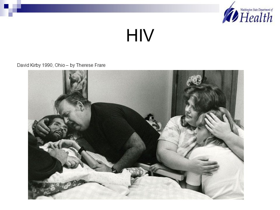 HIV David Kirby 1990, Ohio – by Therese Frare