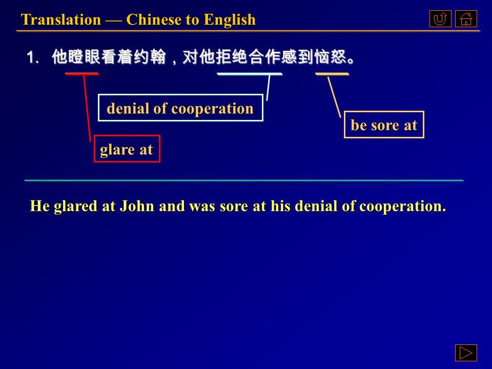 《读写教程 IV 》 :Ex. X, p. 51 《读写教程 IV 》 : Ex. X, p. 51 Translation — Chinese to English