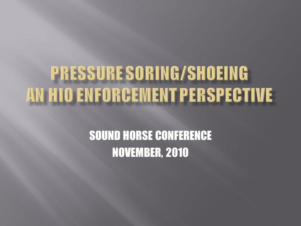 SOUND HORSE CONFERENCE NOVEMBER, 2010