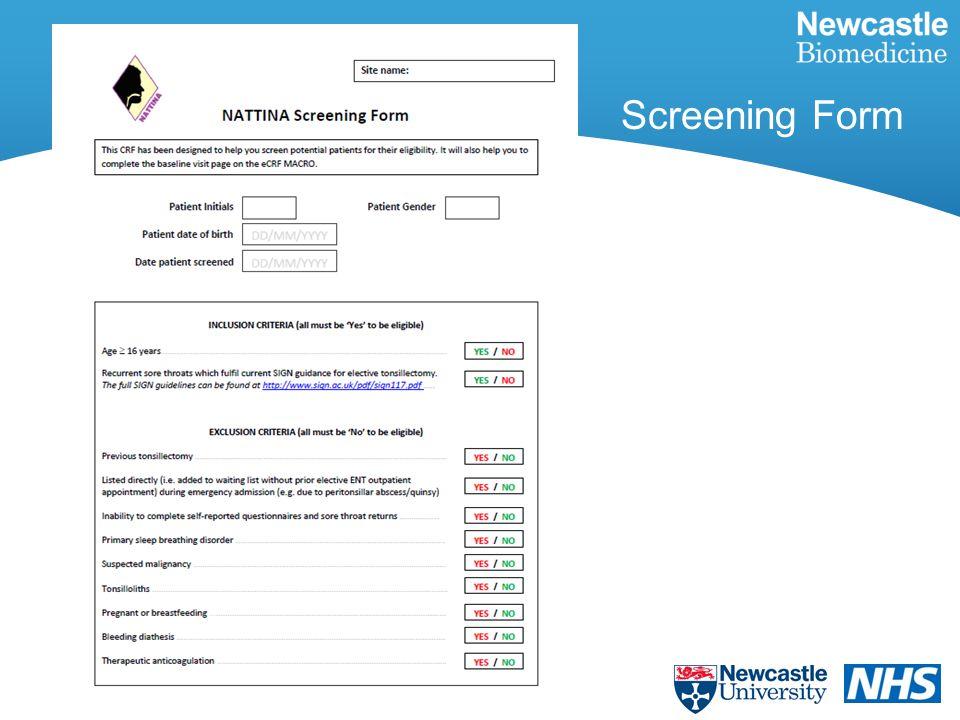 Screening Form