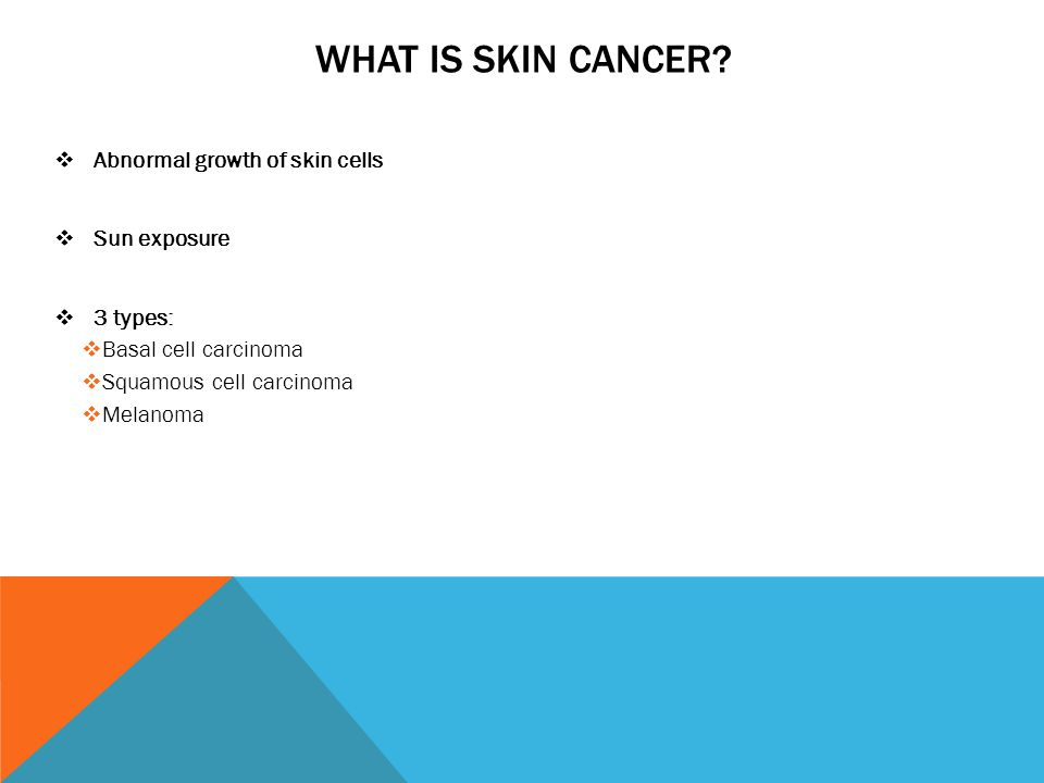 WHAT IS SKIN CANCER.