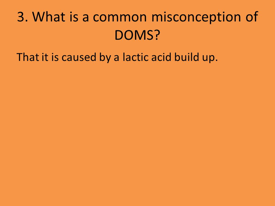 4.How can someone reduce the affects of DOMS.