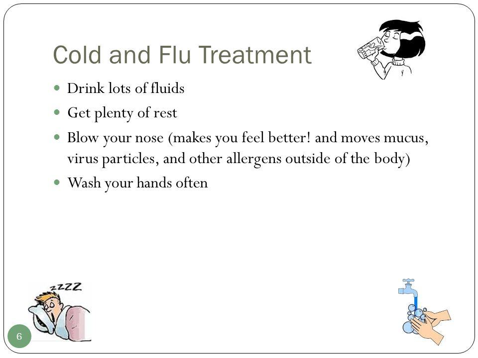 The Flu Only in certain circumstances does the flu need to be treated with an antiviral medication.