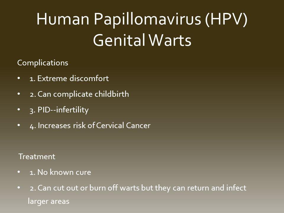 Human Papillomavirus (HPV) Genital Warts Complications 1.