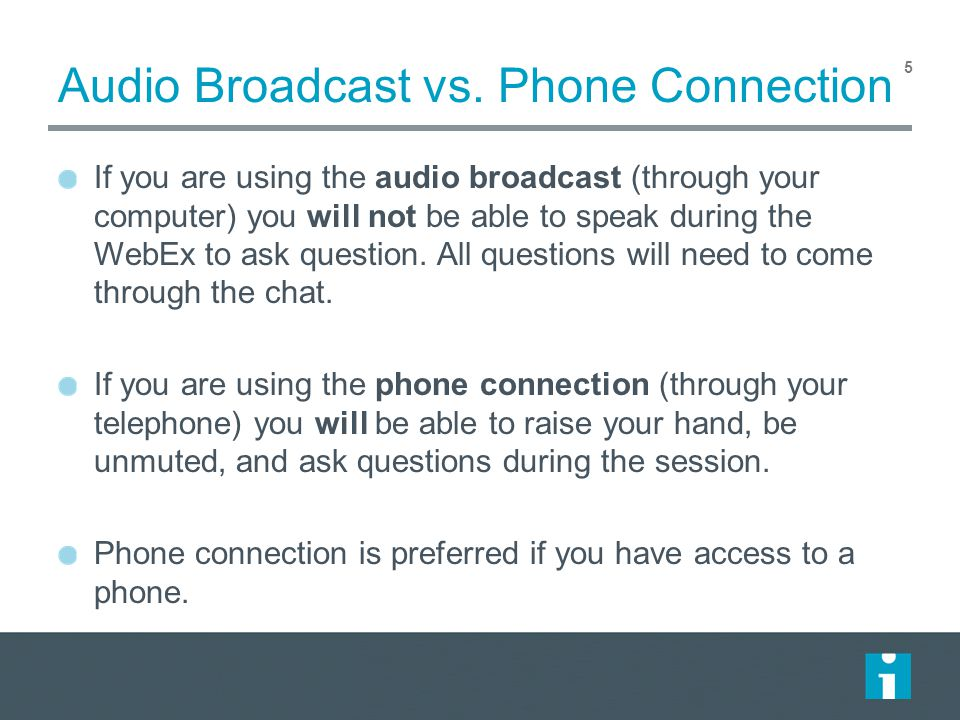 Audio Broadcast vs.