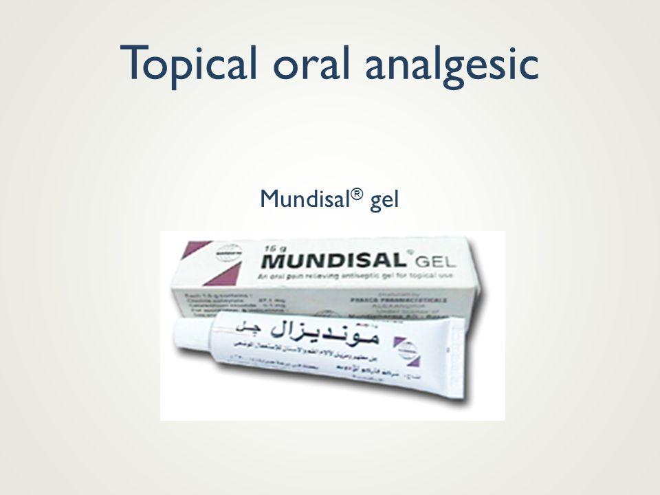 Topical oral analgesic Mundisal ® gel