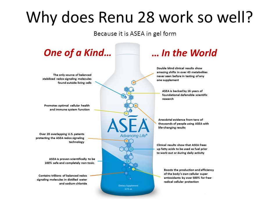 Because it is ASEA in gel form
