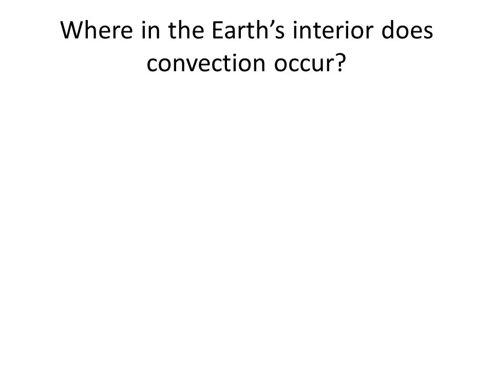 Where in the Earth's interior does convection occur?