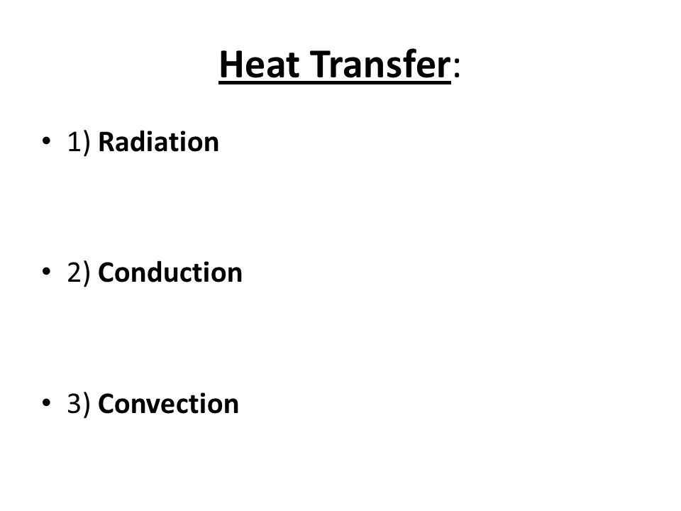 What are the three important things to remember that cause convection cycles to happen?