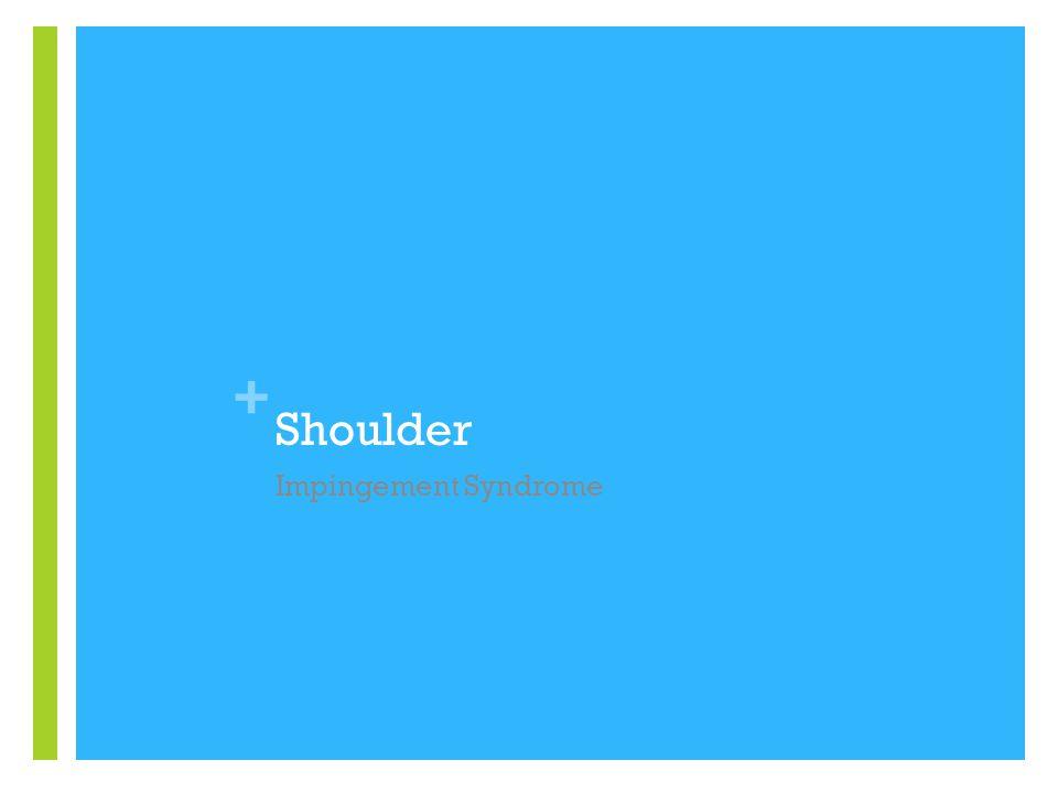 + Shoulder Impingement Syndrome