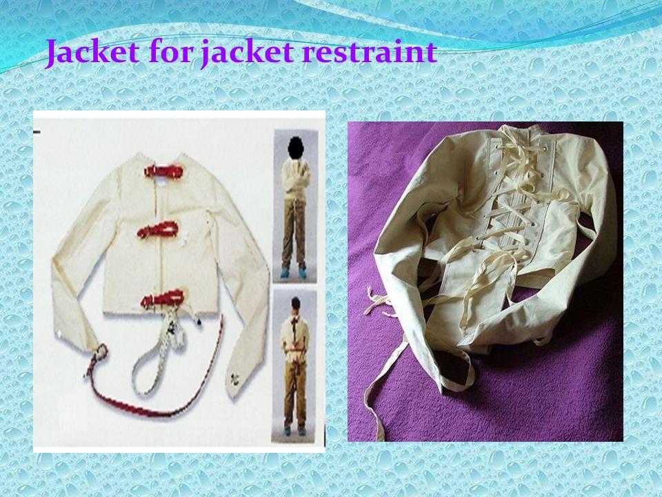 Jacket for jacket restraint