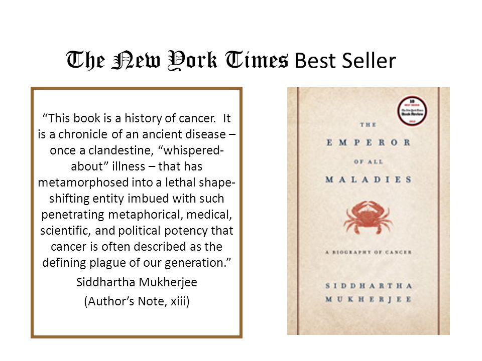 This book is a history of cancer.