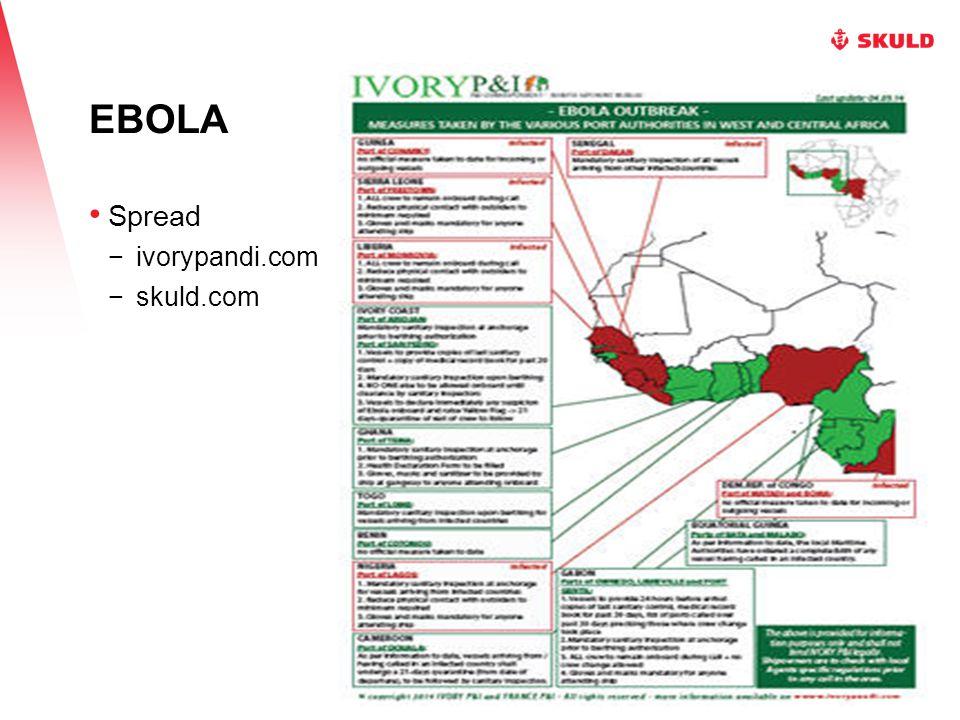 EBOLA Spread −ivorypandi.com −skuld.com