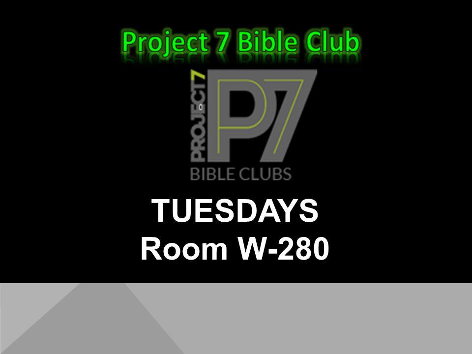 TUESDAYS Room W-280