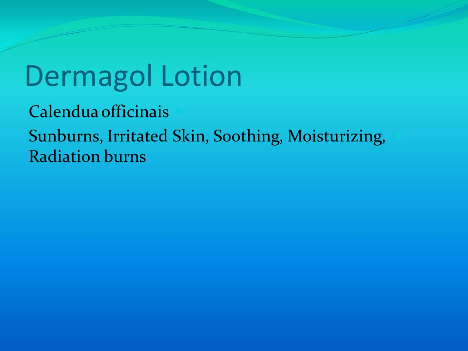 Dermagol Lotion Calendua officinais Sunburns, Irritated Skin, Soothing, Moisturizing, Radiation burns