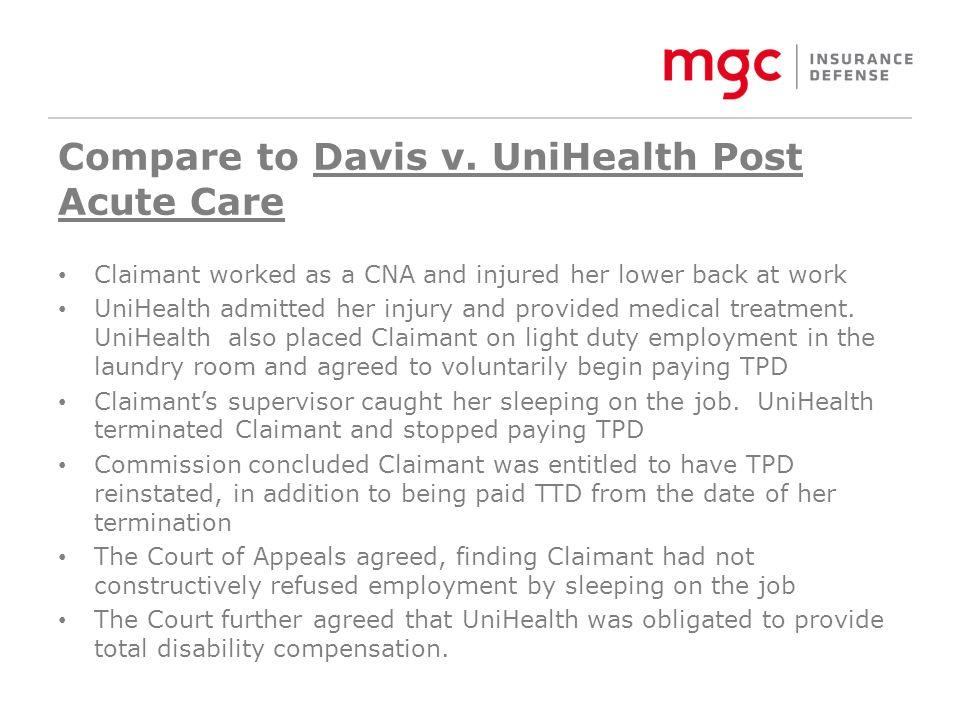 Compare to Davis v.