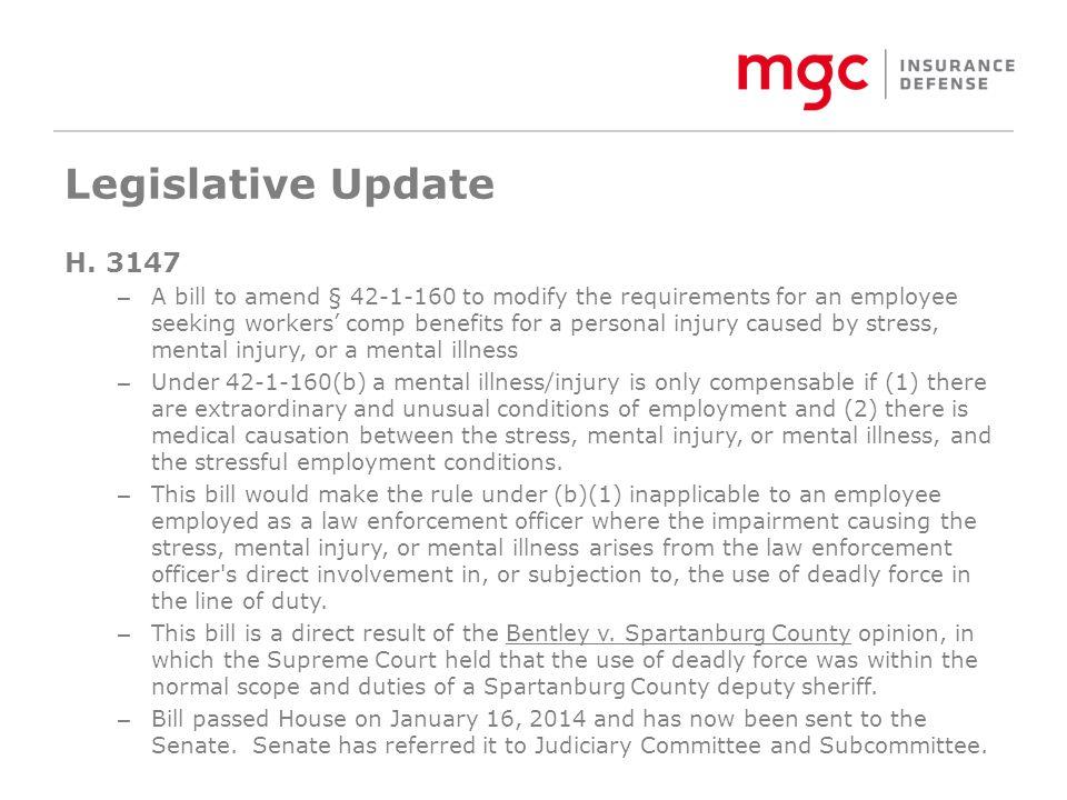 Legislative Update H.