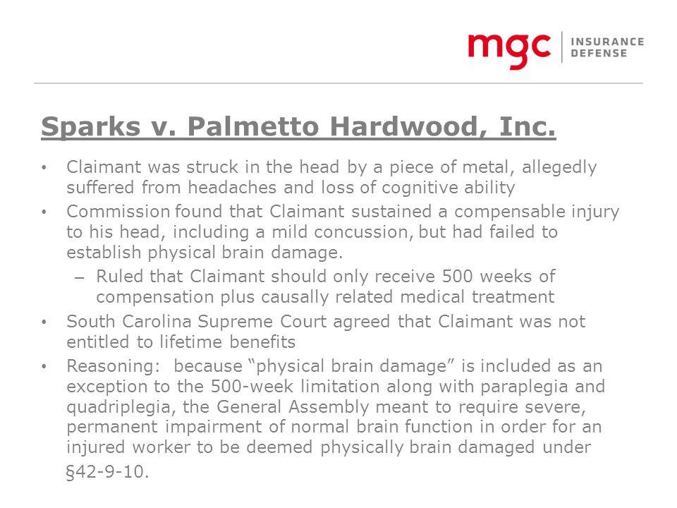 Sparks v. Palmetto Hardwood, Inc.