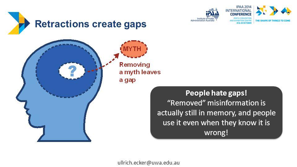 People hate gaps.