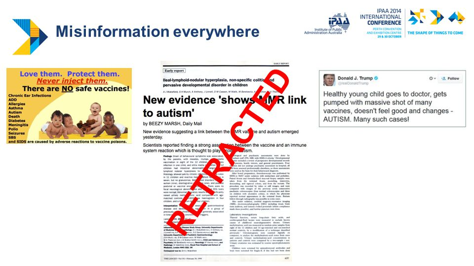 Misinformation effects: Autism scare and MMR uptake