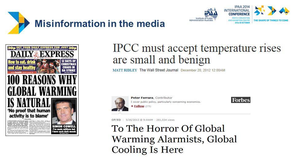 Misinformation in the media