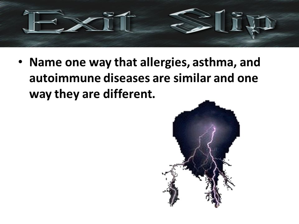 Name one way that allergies, asthma, and autoimmune diseases are similar and one way they are different.