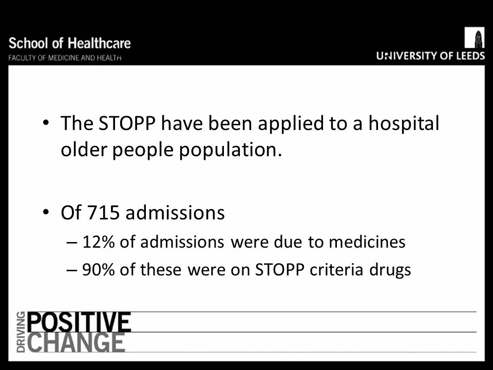 Decreasing the total number of prescriptions for these drug- drug combinations or drug-disease combinations would be expected to reduce admissions due