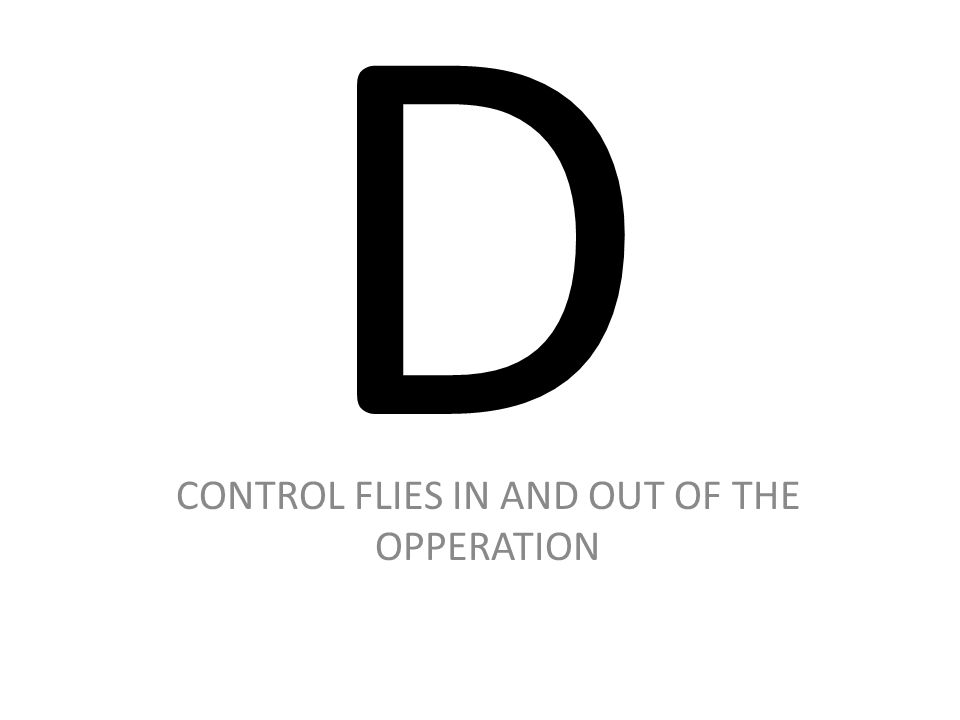 D CONTROL FLIES IN AND OUT OF THE OPPERATION