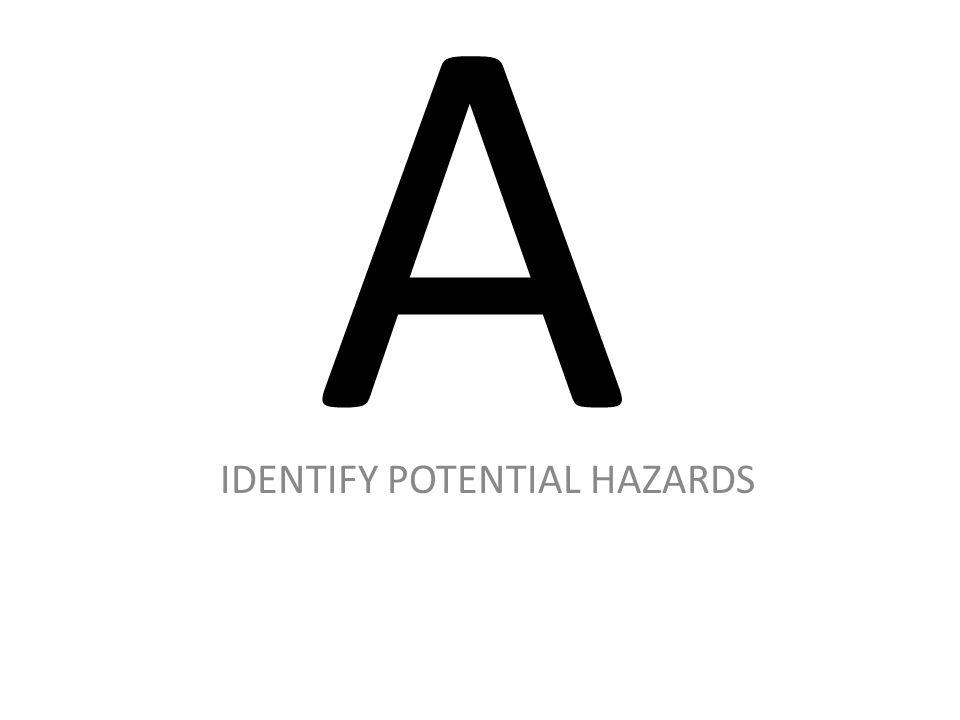 A IDENTIFY POTENTIAL HAZARDS