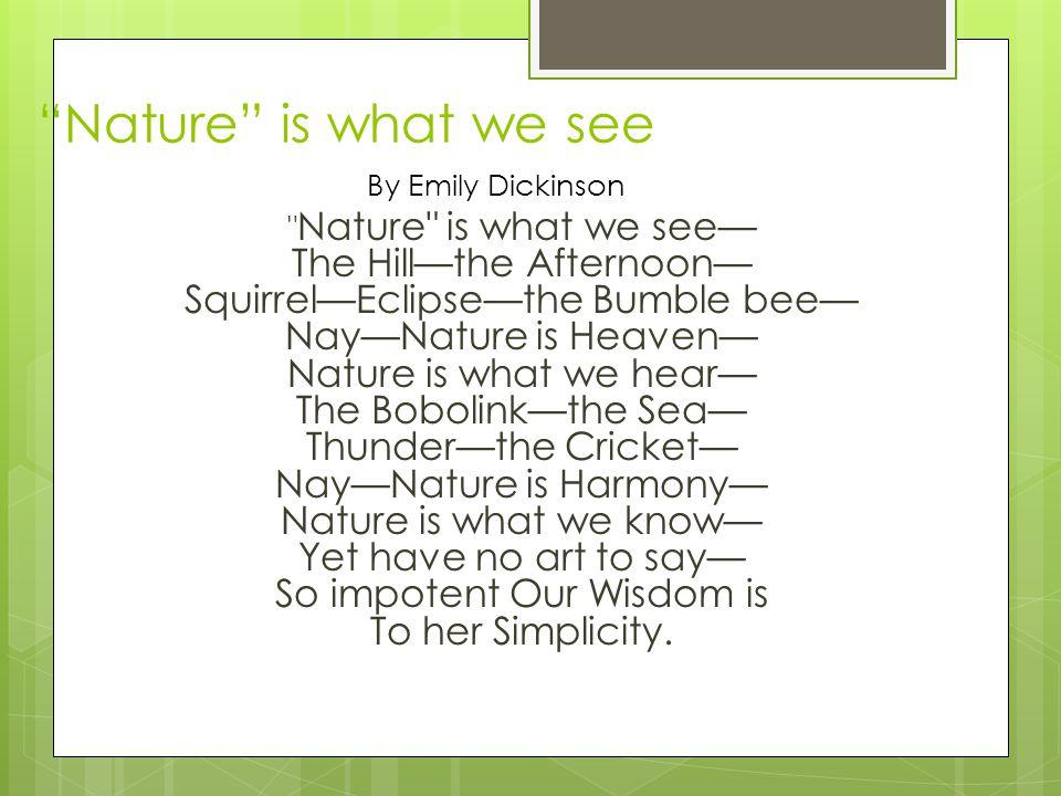 Dickinson Poem Analysis Katie Hatcher