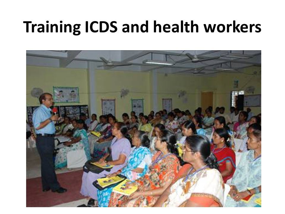Training ICDS and health workers