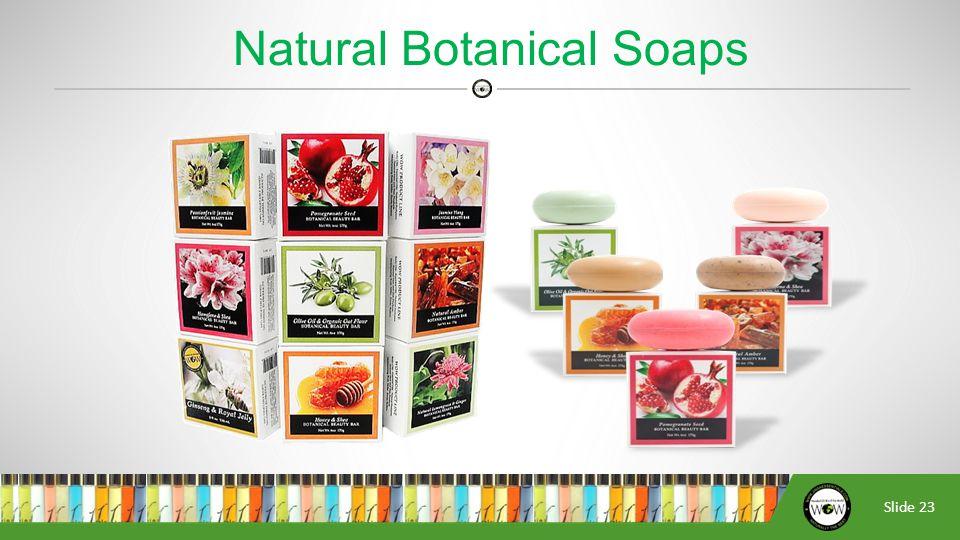 Slide 23 Natural Botanical Soaps