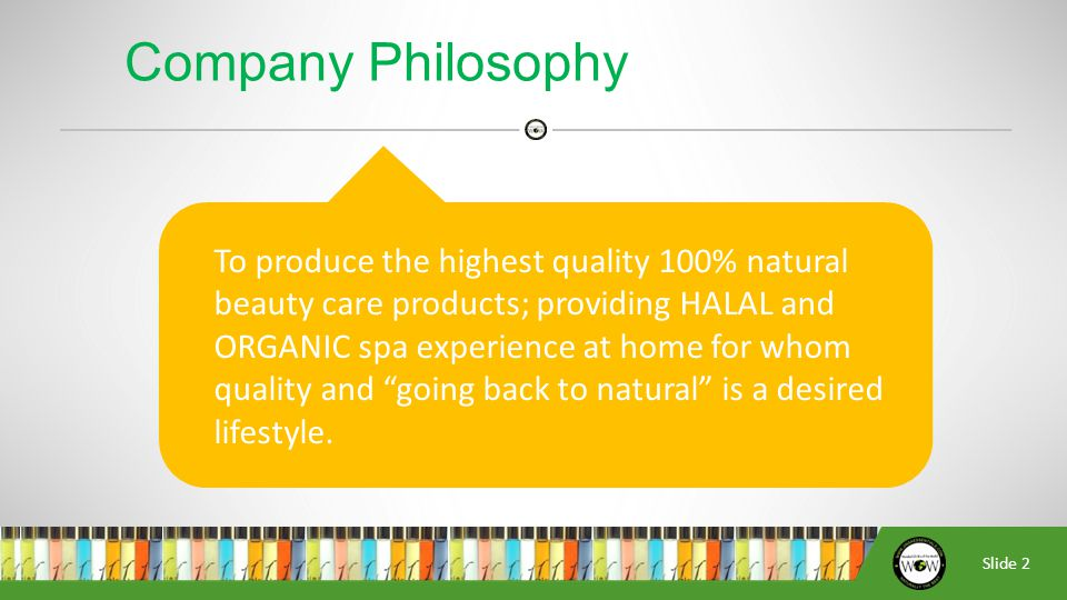 Slide 3 1985  Company established  Co-founders: Nurudeen Haseeb Muhammad Nubee  Products: Manufacturers of alcohol-free designer perfume oils & Essential Oils 2001  Introduced Shea Butter products; lotions & soaps Company History