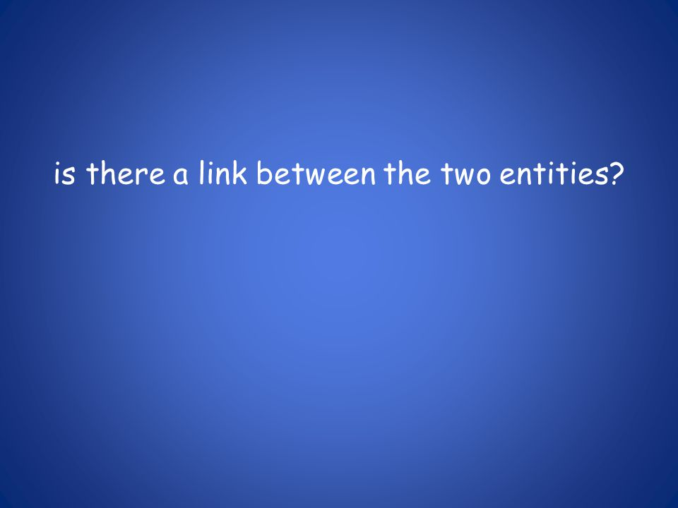 is there a link between the two entities?