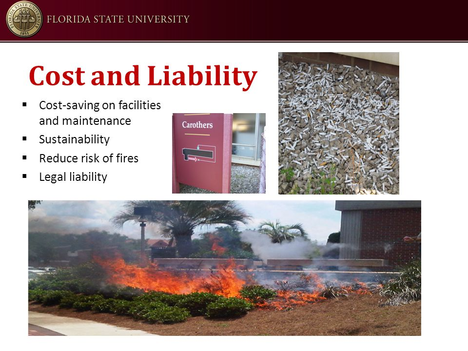 Cost and Liability  Cost-saving on facilities and maintenance  Sustainability  Reduce risk of fires  Legal liability