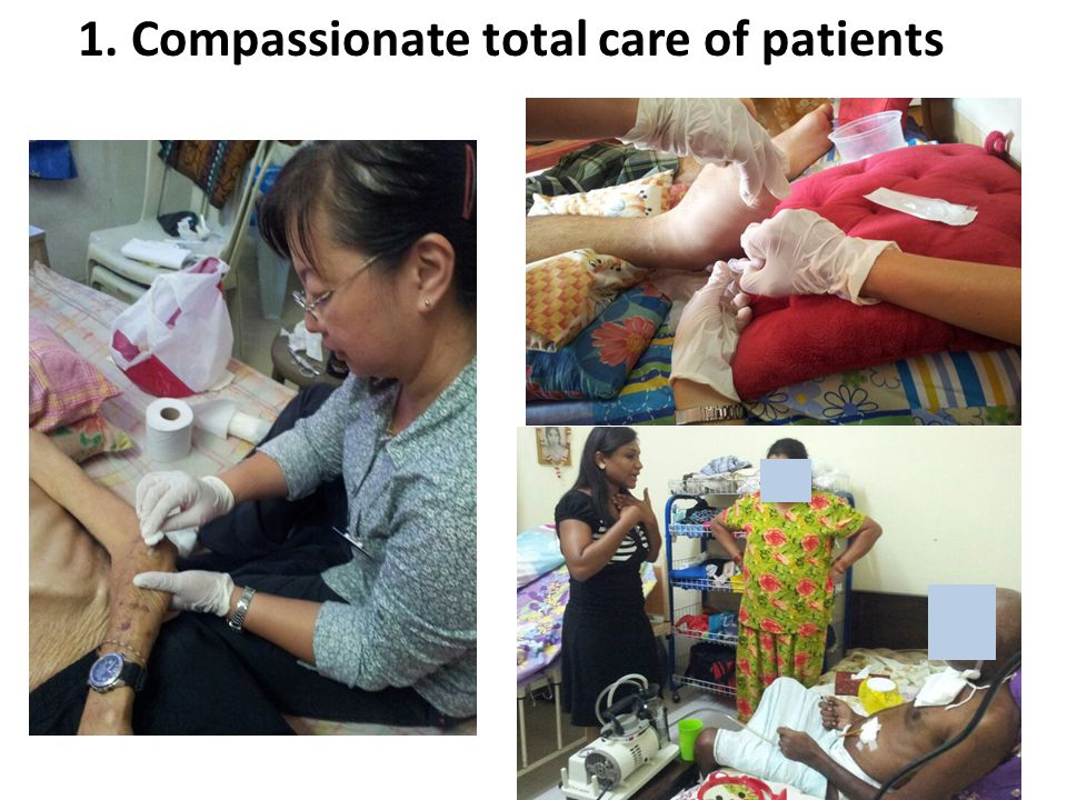 1. Compassionate total care of patients