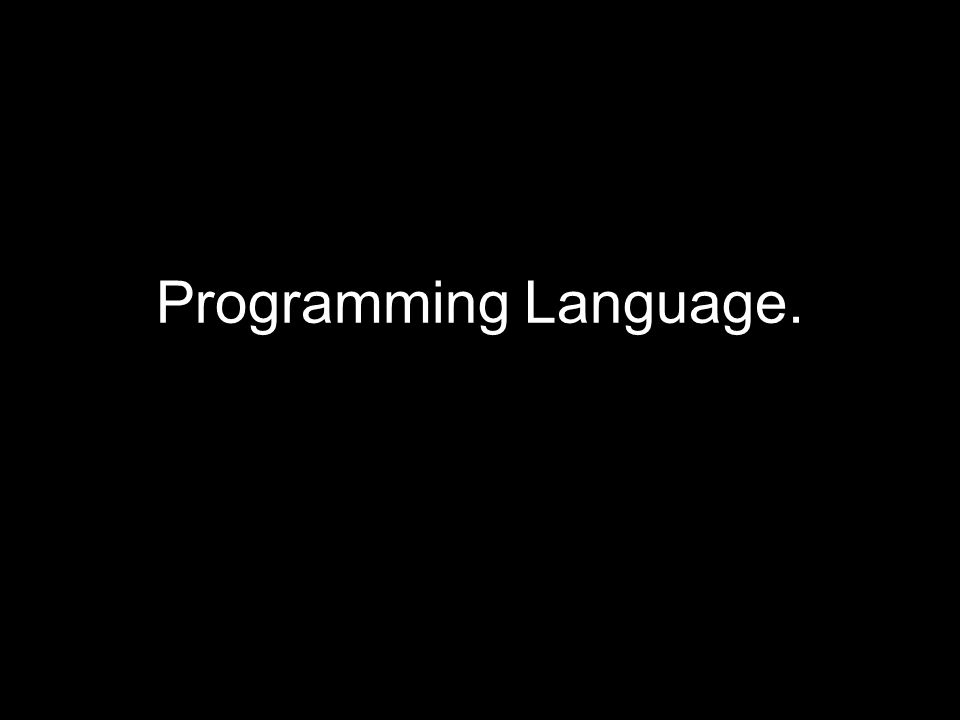 Programming Language.