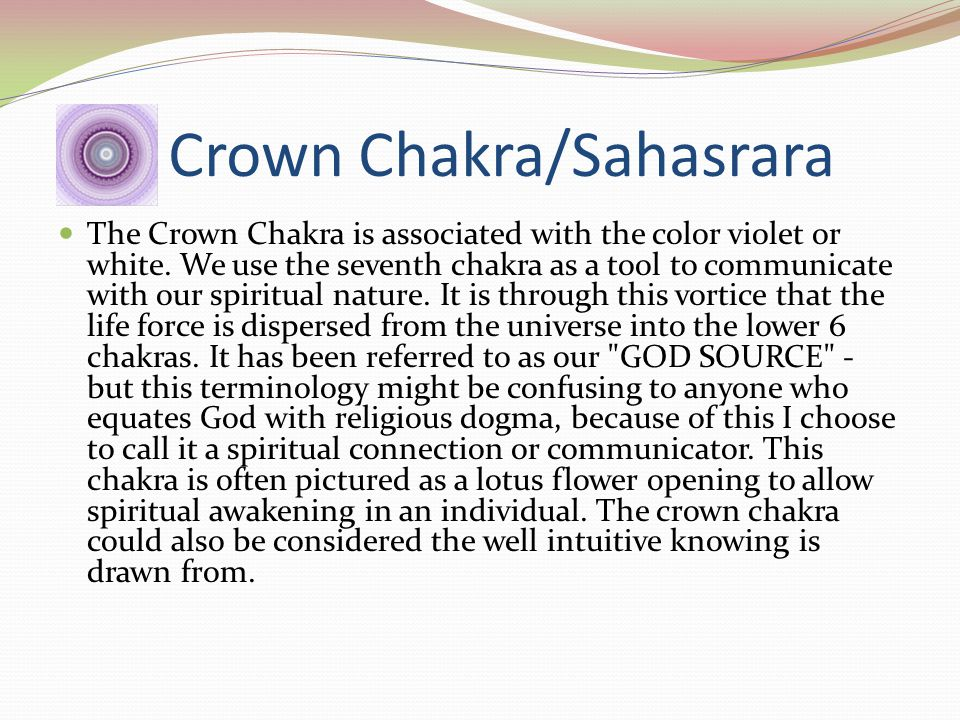 Brow Chakra/third eye/Ajna Color - indigo Physical Location - center of the forehead Purposes - action of ideas, insight, mind development Spiritual L