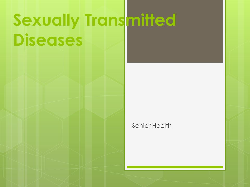 Sexually Transmitted Diseases Senior Health