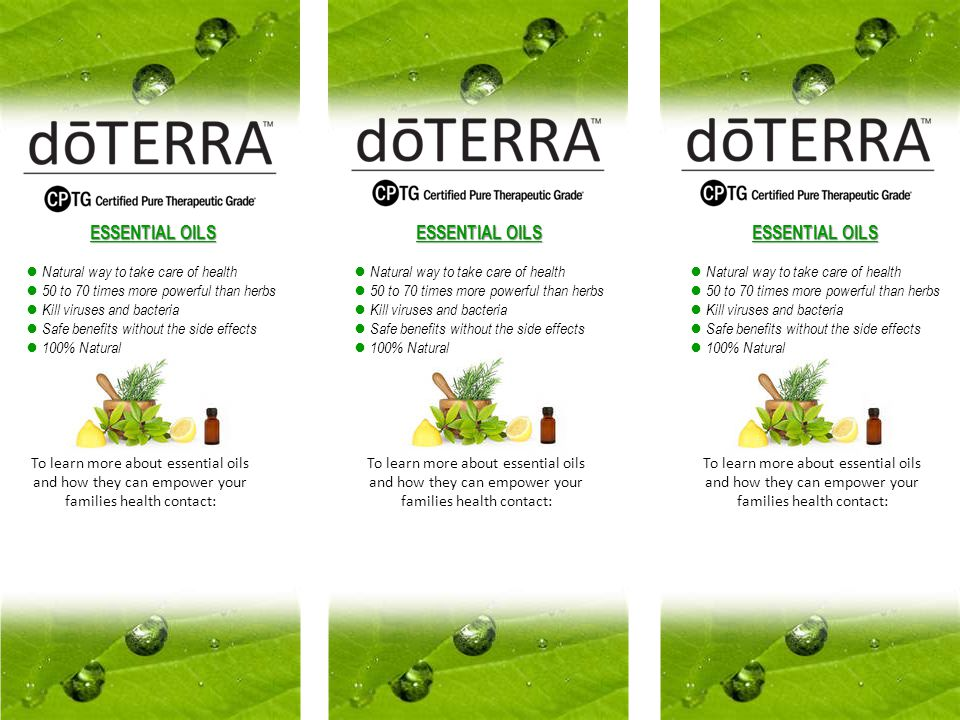 Some Common Uses of doTERRA Essential Oils Essential oils are used for a very wide range of physical and emotional applications.
