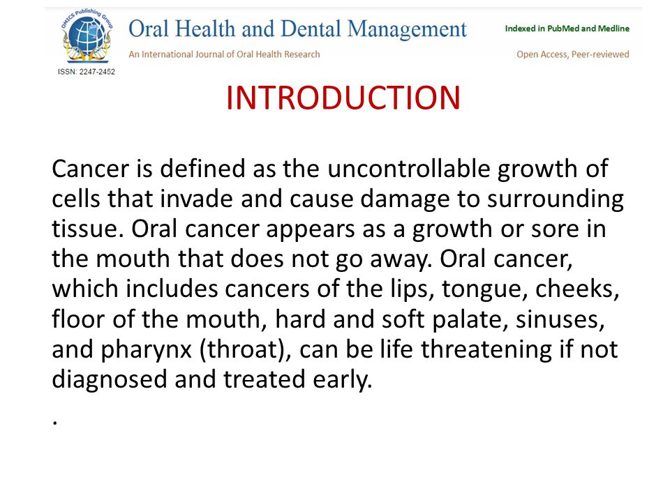 INTRODUCTION Cancer is defined as the uncontrollable growth of cells that invade and cause damage to surrounding tissue.