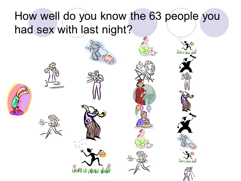 How well do you know the 63 people you had sex with last night?