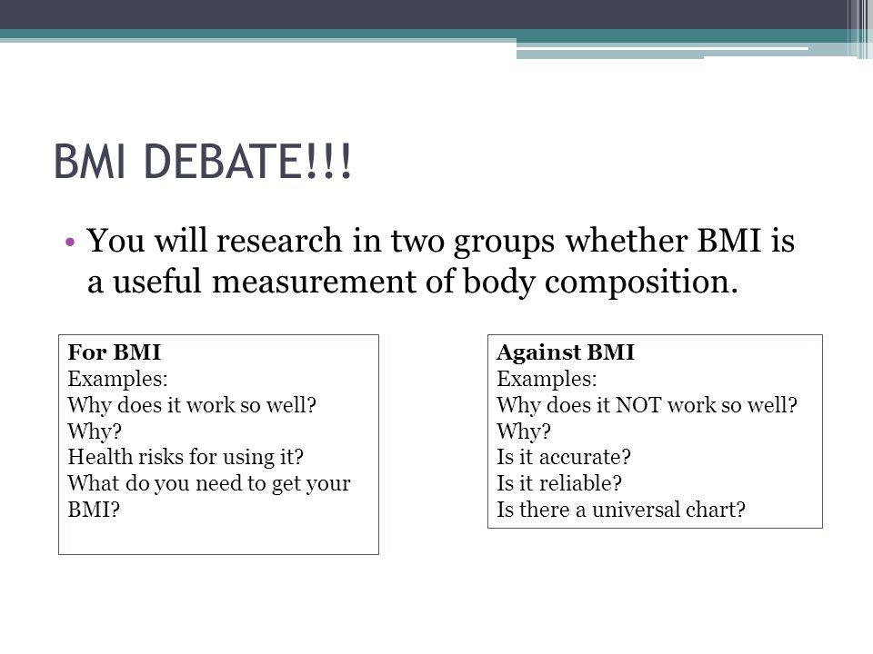 BMI DEBATE!!.