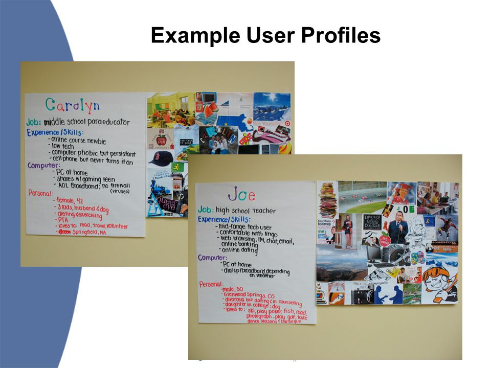 ©2006 Landmark College 31 Example User Profiles