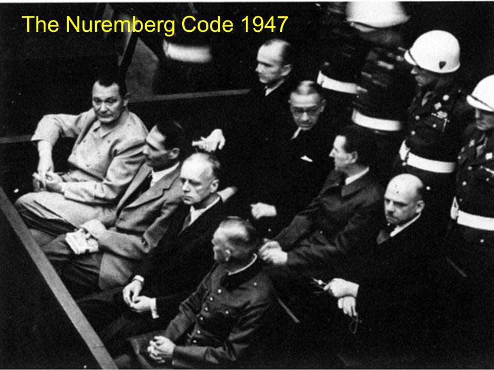The Nuremberg Code 1947