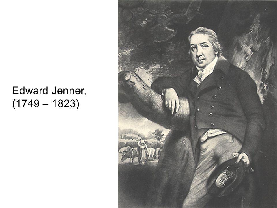 Edward Jenner, (1749 – 1823)