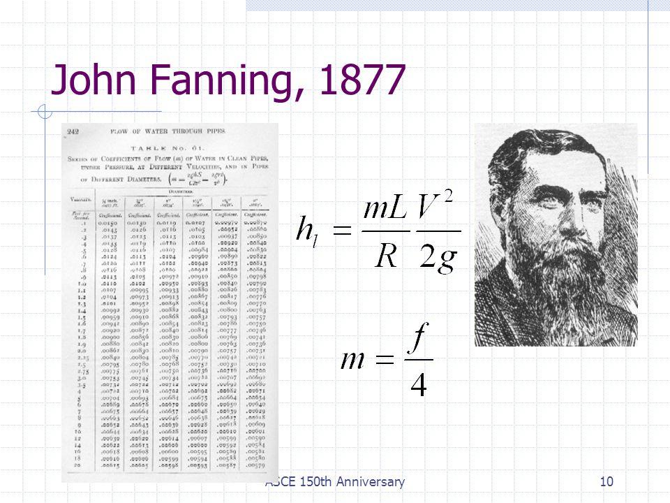 ASCE 150th Anniversary10 John Fanning, 1877