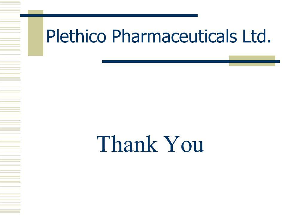 Plethico Pharmaceuticals Ltd. Thank You