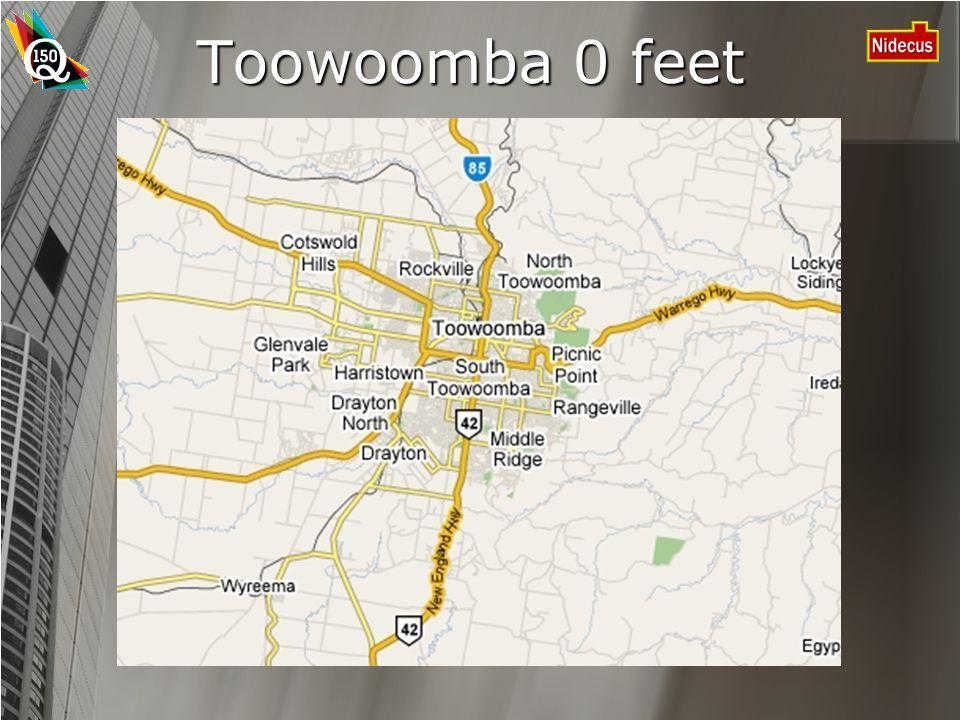 Toowoomba 0 feet