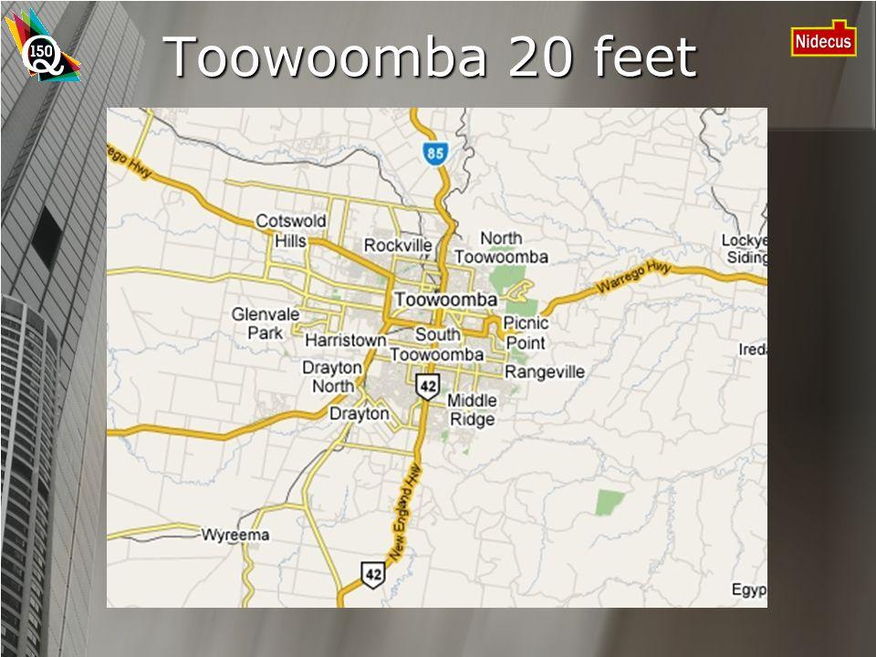 Toowoomba 20 feet